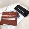 2018 New fashion fine grain PU leather tri-fold ladies wallet with simple style online shopping
