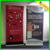 Pull up stand banner
