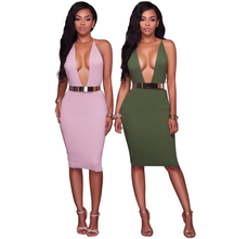 X83788A sexy clubwear women dresses backless bandages ladies night dresses