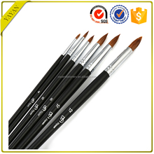Art Drawing Painting Sets Round Head Weasel Hair Brush Wholesale Price