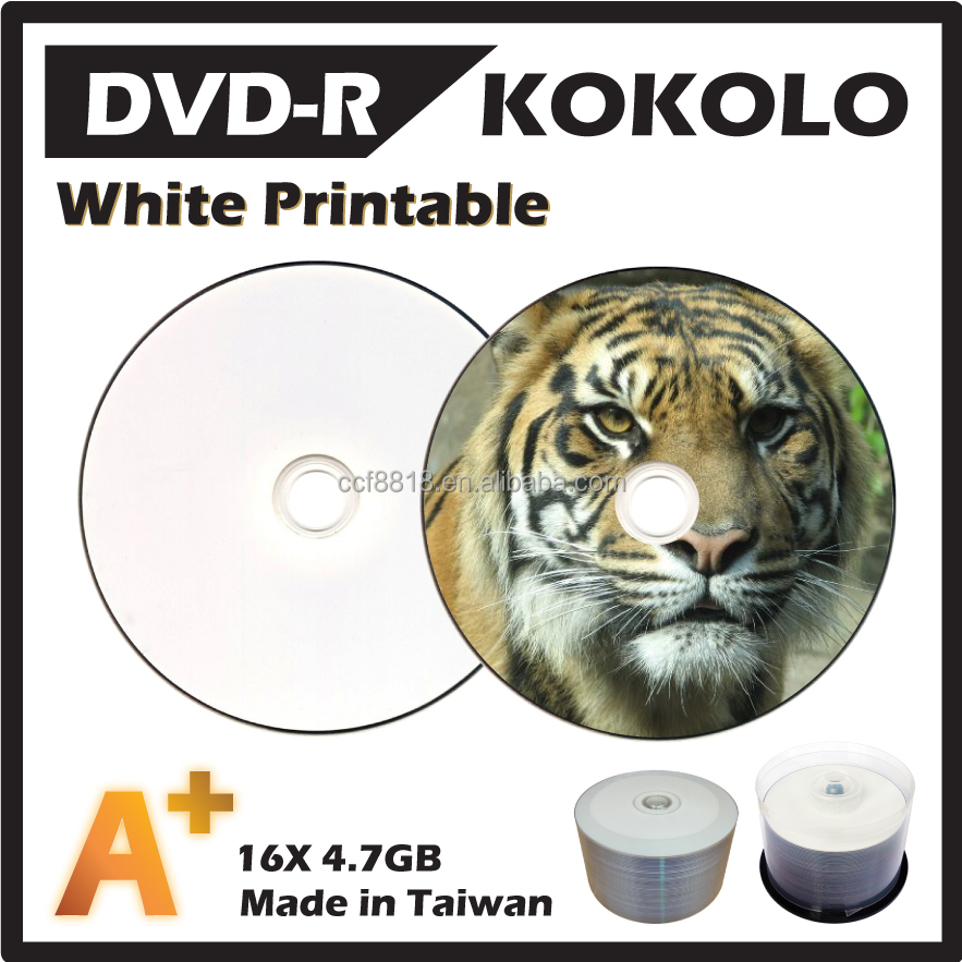 TAIWAN A+ 16X 4.7GB Blank printable DVD-R, get free sample worldwide