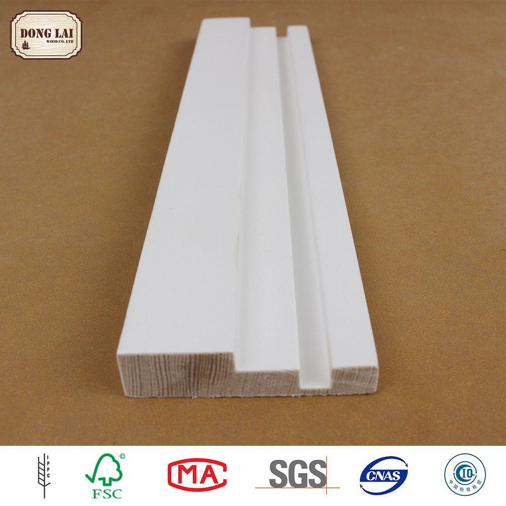Custom Waterproof Laminated Wood white gesso primed fingerjoint Chinese Fir Bed white gesso primed finger Joint Board