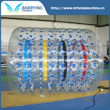 Hot commercial inflatable fun roller / water walking rollers with light