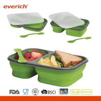 New Design Wholesale BPA Free Plastic Food Container Sweat-proof Bento Box