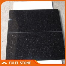 Polished crystal black star galaxy granite floor tiles 600x600