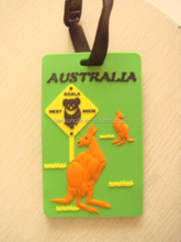 made in china 3d travel baggage tag for Australia travelling