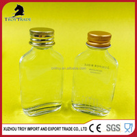 30ml Clear Glass Bottle with Gold Lid for Olive Oil