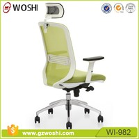 High Back Green Mesh Ergonomic Home Office Work Furniture Desk Swivel Chair with adjustable arms lumbar