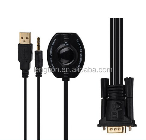 VGA + Audio to HDMI converter VGA HD HDTV conversion cable adapter 720P / 1080i / 1080P