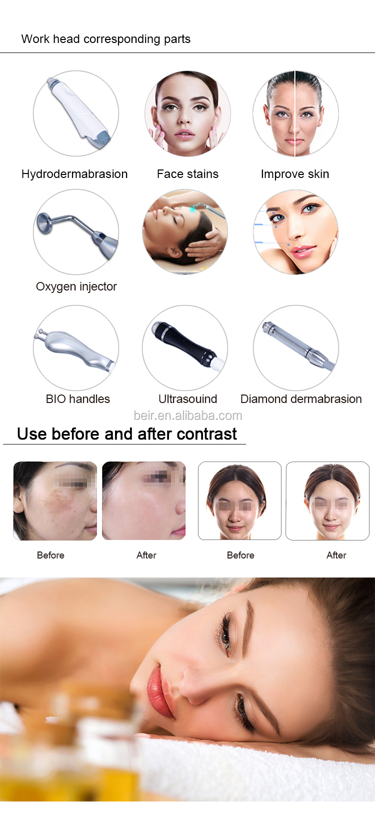 Multi-Functional Microdermabrasion facial beauty 7 in 1 spa skin care spa