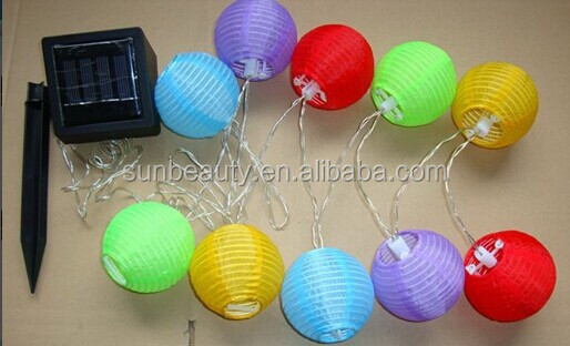 Solar Paper lantern garland with panel as event decorations for church