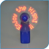 2015 China Party Favor Battery Operated Led Mini Fan With Slogan Message