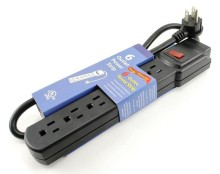 UL listed 6 Outlets Surge Protector Overload Protection Power Strip