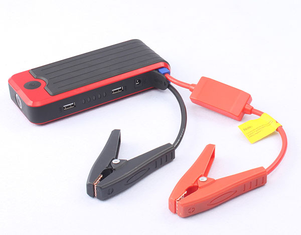 New Brights Compact 12000mAH Mini Portable Car Jump Starter - Power Bank - 400 Amps Battery Booster - Built-in LED Flashlight &
