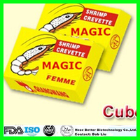 Hot Sale Shrimp Flavor Bouillon Cube, 4 g HALAL Seasoning Chicken Powder Cubes, 10g Stock Cube