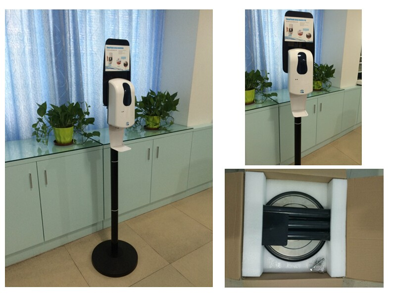 Soap dispenser high quality aluminum floor stand