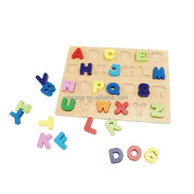 Wooden Alphabet Jigsaw Board Preschool Alphabet Educational Board