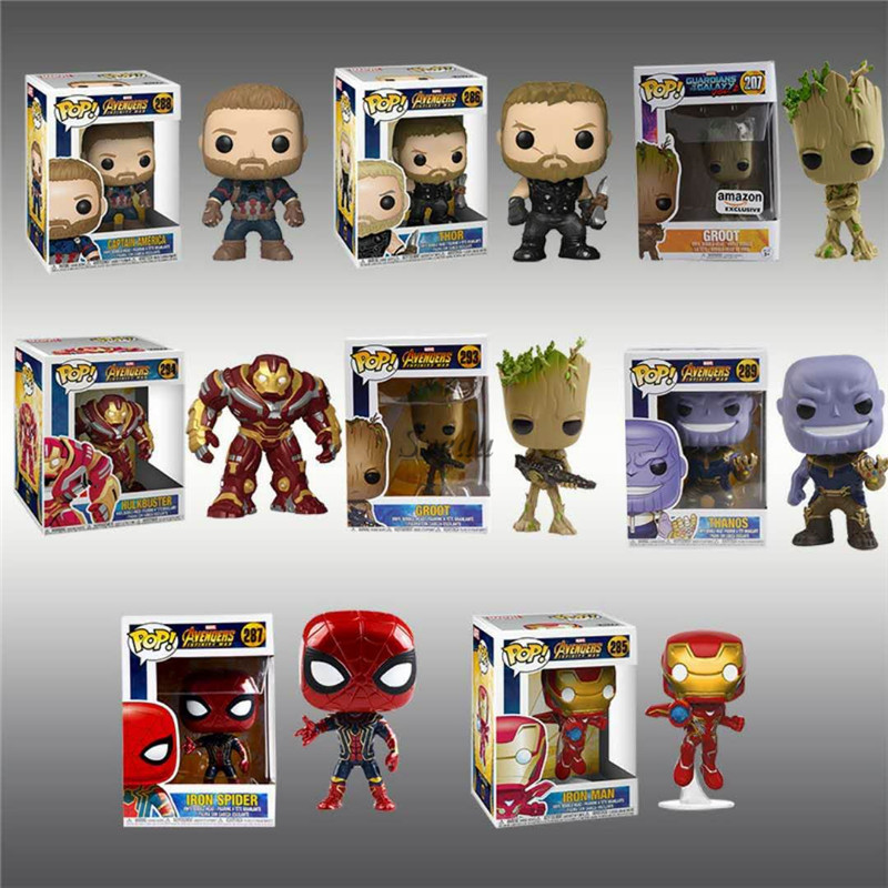 Sveda Newest Marvel Movie The Avenger Funko POP action figures, Captain America, Thor, Iron-man,Thanos, Groot