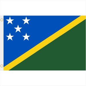 3ft x 5ft Printed Polyester Internatinal Flags-Solomon Islands