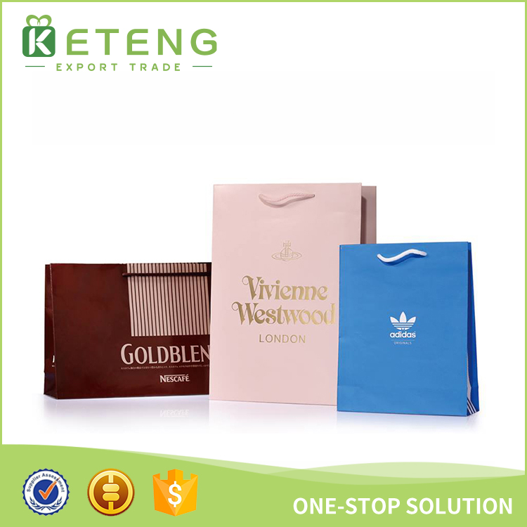 Paper hand bags with logo printing paper gift bags with handles