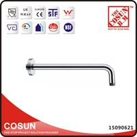 90 Degree Right Angle Brass Shower Arm Extension with Flange