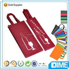 China Alibaba Wholesale Non Woven Red Wine Bag For Gift