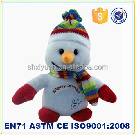 Hot toys for christmas 2015 plush snowman christmas toy