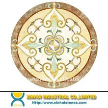 Mosaic Pattern/Marble floor Water Jet Medallion pattern design for hotel