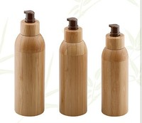 bamboo cosmetic packaging 120ml,150ml,200ml lotion pump botte