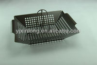 bbq turkey roasting basket with wire rack