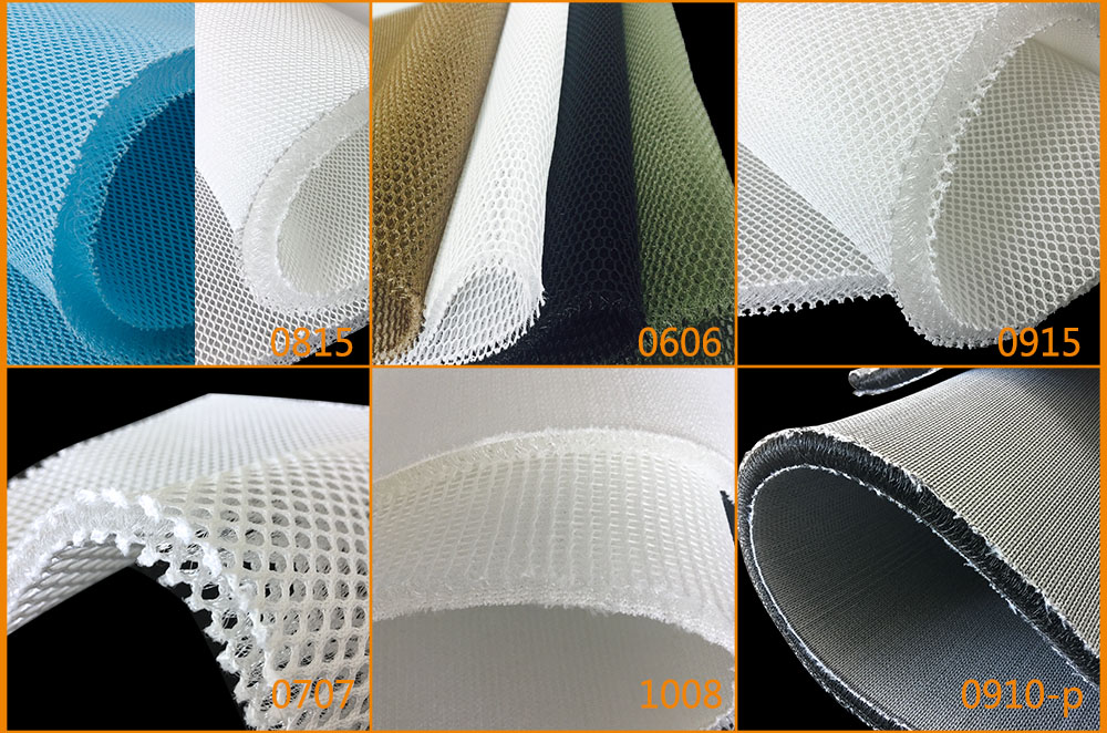 black and white 3d knitted airflow spacer fabric