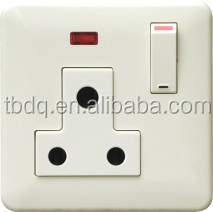 New single 15 amp socket white PC switched socket with neon