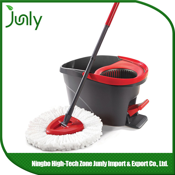 spinning mop double bucket stainless steel basket microfiber easy life 360 rotating spin magic mop