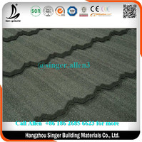 Classic Green metal stone roofing sheets /galvalume roofing /aluminium zinc steel stone coated roofing tile