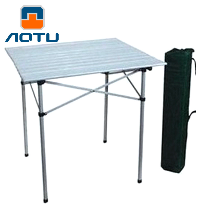 Concave convex portable aluminum alloy and chair folding leisure outdoor table AT6701