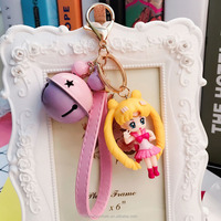Best kids gifts Hot anime cartoon Plastic PVC sailor moon key rings sailor moon figure toy key chain ring for wholesale
