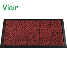 Rubber Doormat Entrance Rug Indoor/Outdoor Door Shoe Scraper Entryway,Garage and Laundry Room Floor Mat, Weather-Resistant