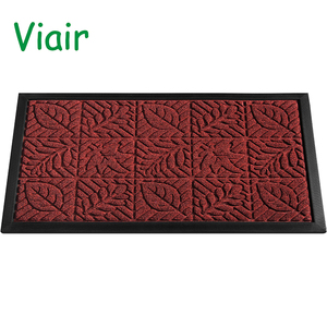 Rubber Doormat Entrance Rug Indoor/Outdoor Door Shoe Scraper Entryway,Garage and Laundry Room Floor Mat