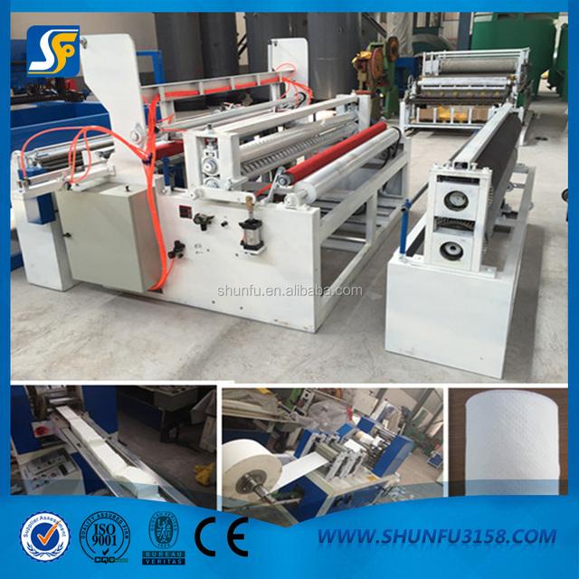 1092mm paper slitting rewinding machine/toilet reel roll rewinding machine/toilet paper making machine