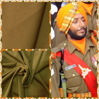 "Military Ceromony Uniform Fabric Textile - T/R 65/35 20*20 102*52 57/58"" 2/1- Polyester Rayon Uniform Fabric China Supplier"