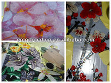 Glass painting mosaic art pictures