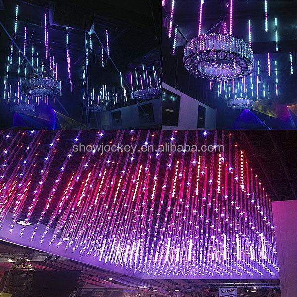 Multi color led snow falling tube light 3d outdoor led - Decoration boite de nuit ...