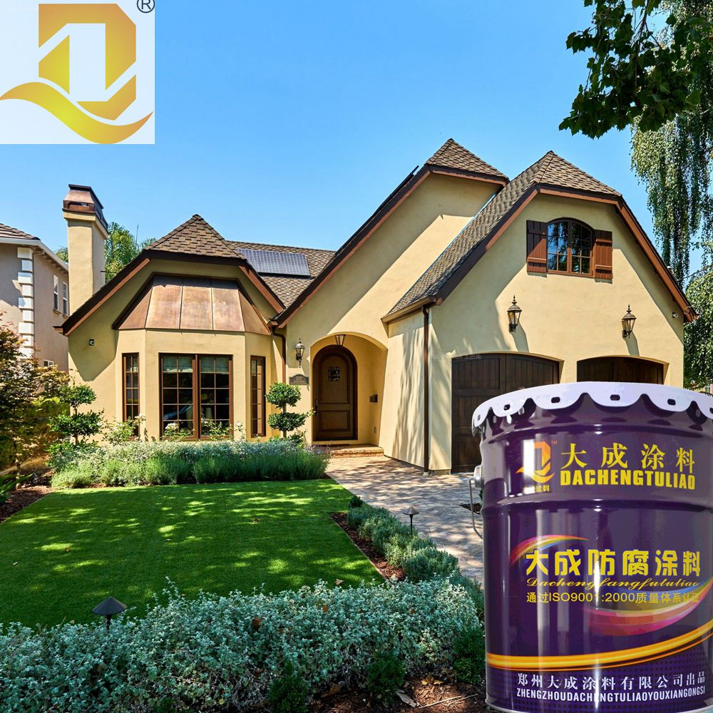 Strong weather exterior wall paint thick coating