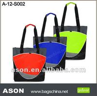 600D Economy Shopper Tote Bag with Cross Dobby