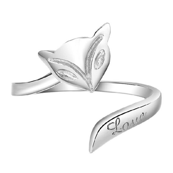 Fox Shape Rings LOVE Carved Alloy Korean Female Manufacturers Wholesale