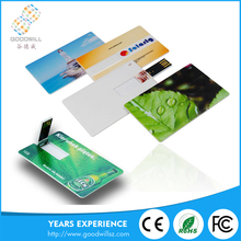 Bulk Cheap Manufacture In China Custom Print 2/4/6/8/16/32Gb Memory Stick Business Credit Card Type Usb Flash Drive With Logo