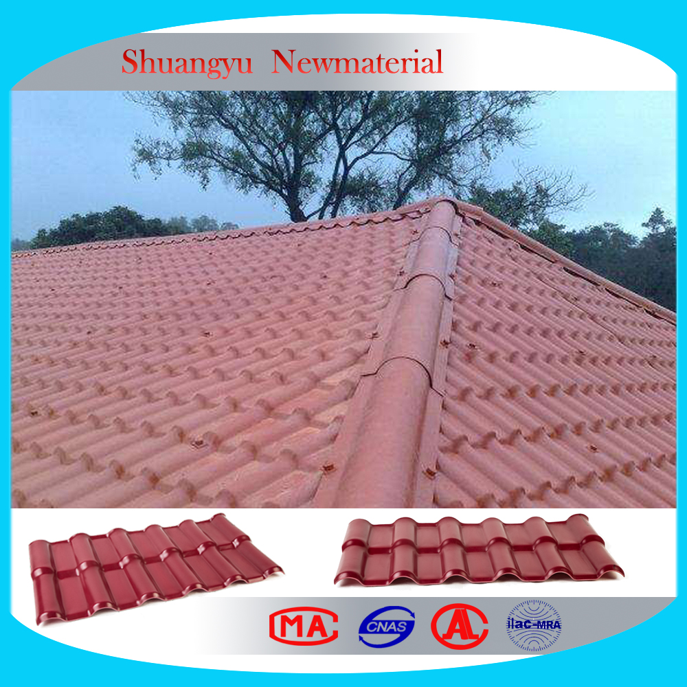 high quality recycled rubber roof tiles, Heat resistant upvc roofing tile
