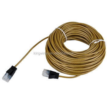 Flexible 32awg round type cable CAT6 CAT 6 ethernet patch cable utra thin