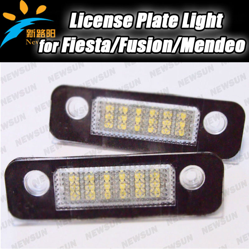 Car Led License Plate Light Xenon White For Ford Fiesta Mondeo MK2 Fusion number license plate lamp error free