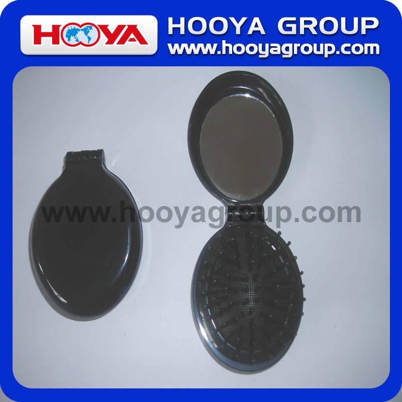Oval Comb With Folding Pocket Mirror